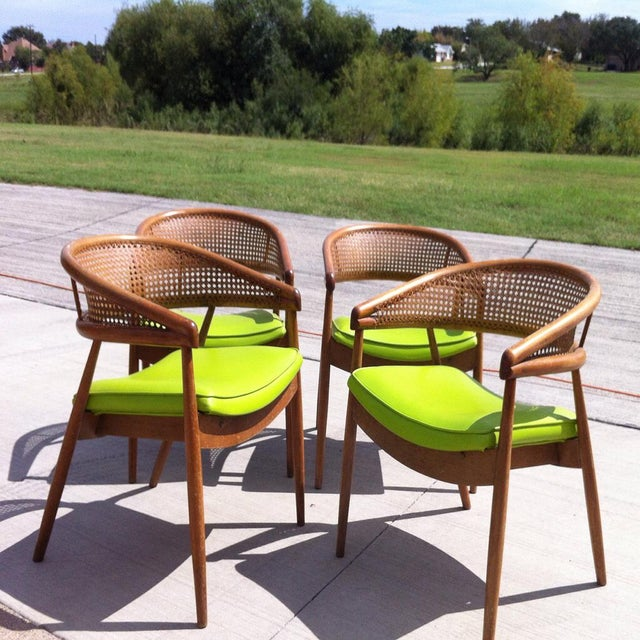 Thonet James Mont Bent Wood & Cane Armchairs - Set of 4 - Image 4 of 5