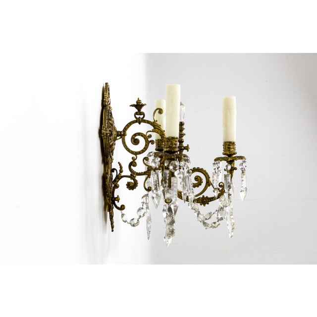 Highly Detailed Belle Epoque Style Sconces (Pair) For Sale - Image 9 of 13