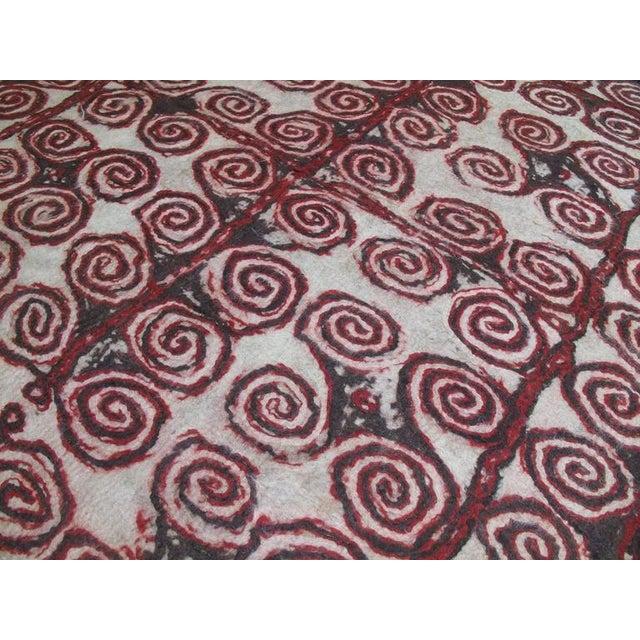 Central Asian Felt Carpet For Sale - Image 4 of 9