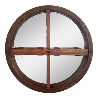 Antique Gear Made Into a Mirror For Sale