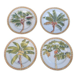 Tropical Trees Small Plates - Set of 4