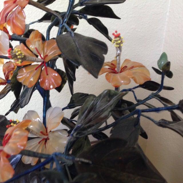 Vintage Flowering Jade Tree in Cloisonné Planter - Image 6 of 6