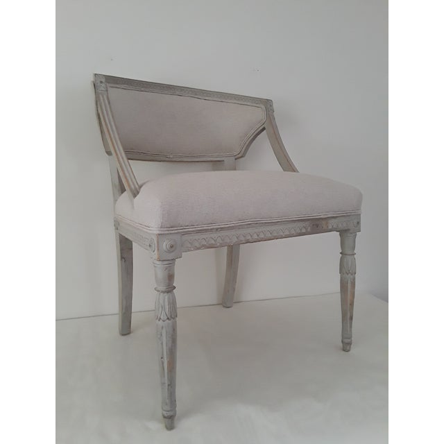 Pair of Swedish Gustavian Barrel Chairs - Image 7 of 11