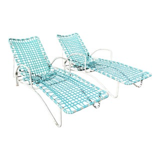 Brown Jordan Lido Patio Chaise Lounge Chairs - A Pair