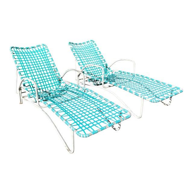 Swell Brown Jordan Lido Patio Chaise Lounge Chairs A Pair Machost Co Dining Chair Design Ideas Machostcouk