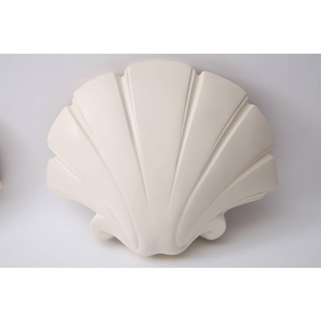 Hollywood Regency Scallop Clam Shell-Form Wall Sconces by Sirmos - a Pair For Sale - Image 3 of 10