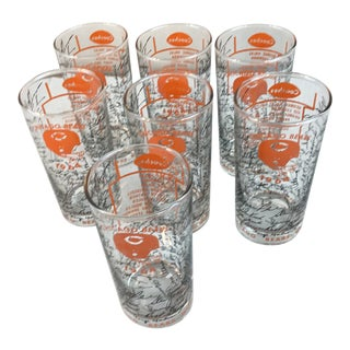 1964 Vintage Chicago Bears Autograph Tumblers - Set of 7 For Sale