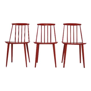 Mid-Century Modern Folke Palsson Dining Chairs - Set of 3