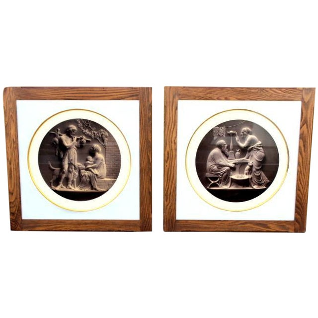 Antique Classical Lithographs - A Pair - Image 1 of 4