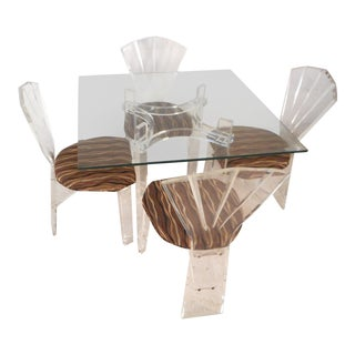 Mid-Century Modern Lucite Dining Set For Sale