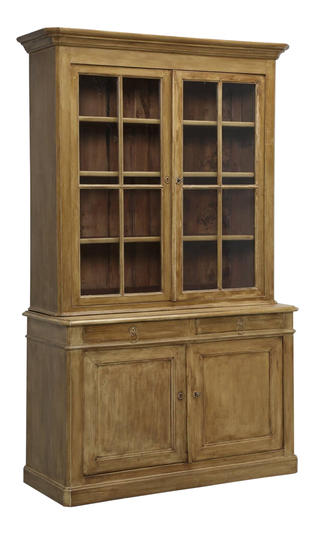 Antique French Painted China Cabinet From Bordeaux For Sale