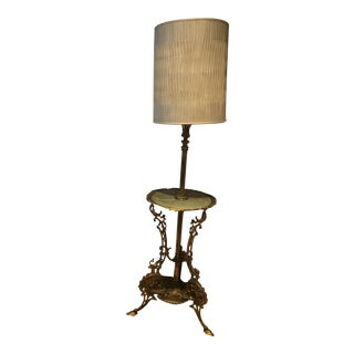 Antique Bronze Table Lamp For Sale