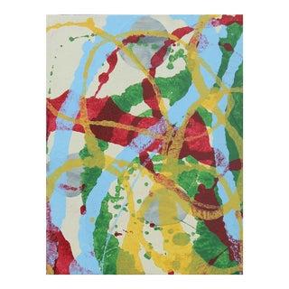 """""""Hoopla"""" Oil & Enamel By Sheila White For Sale"""