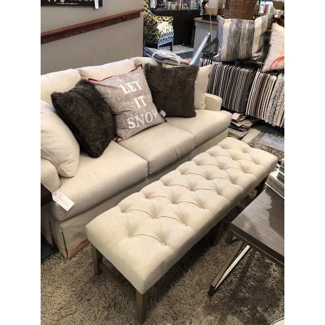 Marcy Linen Bench For Sale In Chicago - Image 6 of 7