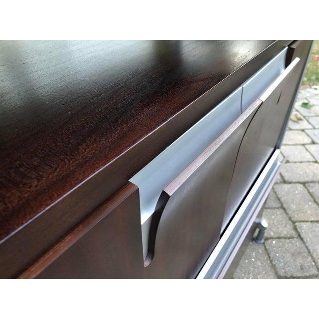 Metal Herman Miller Rosewood & Metal Cabinet For Sale - Image 7 of 13