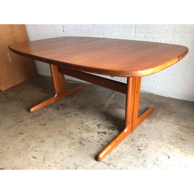 Vintage Mid-Century Danish Modern Extendable Dining Table by Skovby Mobelfabrik Denmark. This Beautiful Table feature...