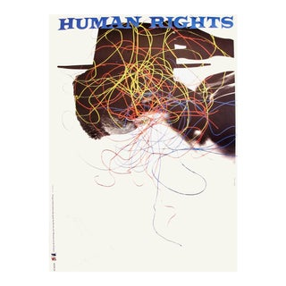 1989 Original Poster for Artis 89's Images Internationales Pour Les Droits De l'Homme Et Du Citoyen - Human Rights For Sale