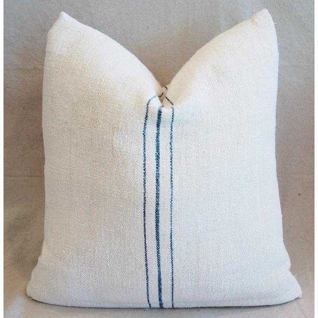 Vintage French Grain Sack Textile Pillows - a Pair - Image 7 of 10