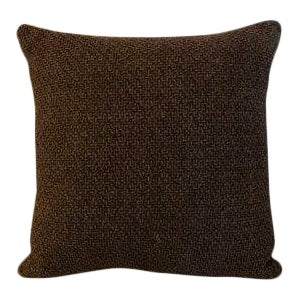 Brown Chunky Woven Pillow
