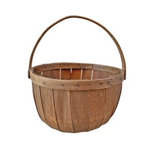 19th Century Apple Bushel Basket For Sale