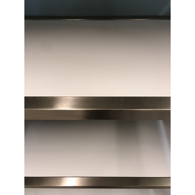 Contemporary Contemporary Bastein White and Silver Five Shelf Etagere For Sale - Image 3 of 4