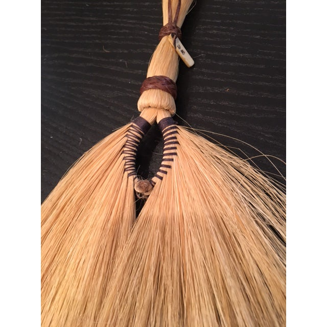 Primitive Leather Bound Brush For Sale - Image 4 of 4