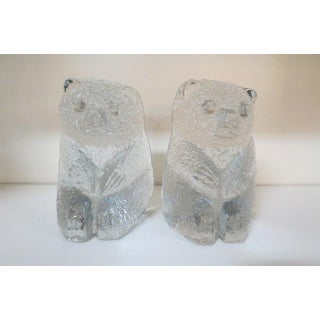 1960s Vintage Blenko Mid Century Modern Glass Bear Bookends - a Pair Preview