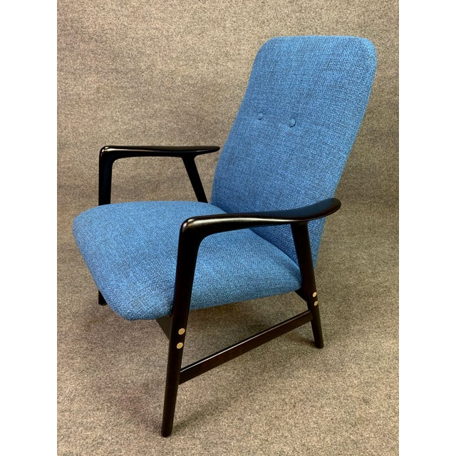Mid-Century Modern Mid Century Vintage Alf Svensson for Dux Scandinavian Lounge Chair For Sale - Image 3 of 11