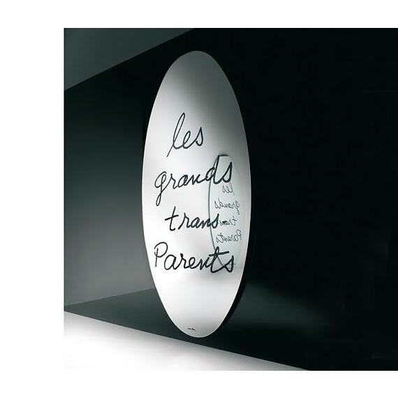 Les Grands Trans-parents Mirror Design date 1938, manufactured fourth quarter 20th century Elliptical mirror screen...