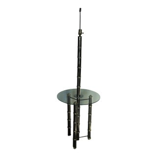 Regency Style Chrome & Brass Floor Lamp