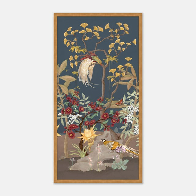 Allison Cosmos Forest & Pheasants by Allison Cosmos, Set of 3, in Gold Framed Paper, Large Art Print For Sale - Image 4 of 9