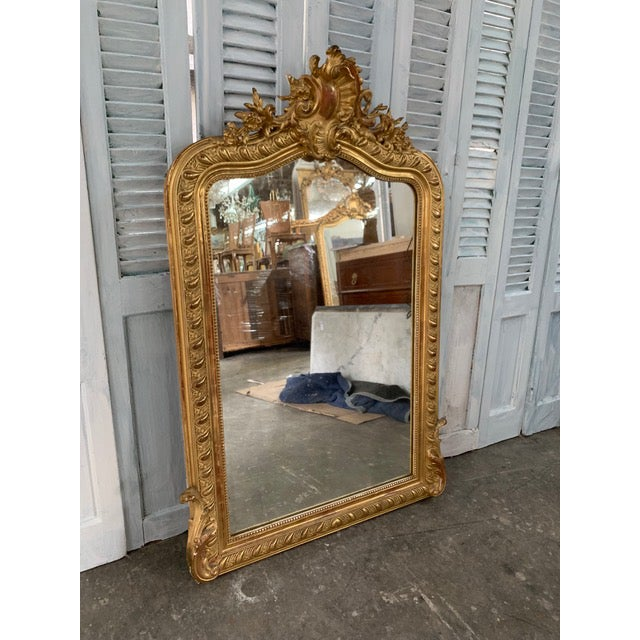 18th Century Grand Louis Philippe Mirror For Sale - Image 4 of 8