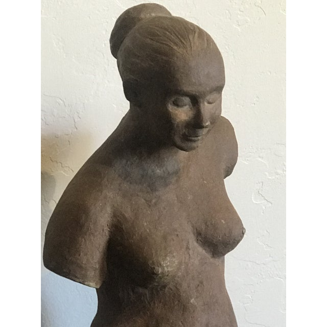 1970s Nude Woman Terracota Sculpture For Sale - Image 5 of 7