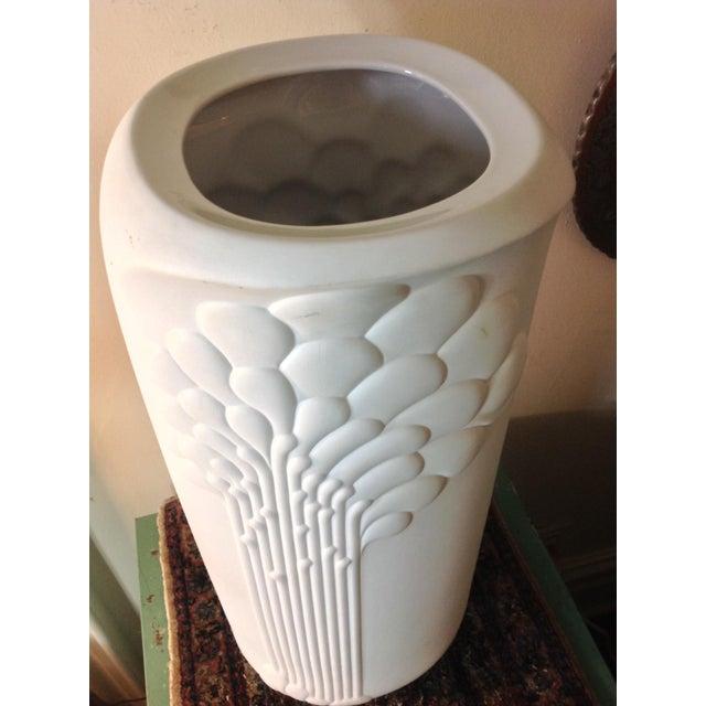 German Porcelain Michaela Frey Op Art Tall Vase - Image 4 of 9