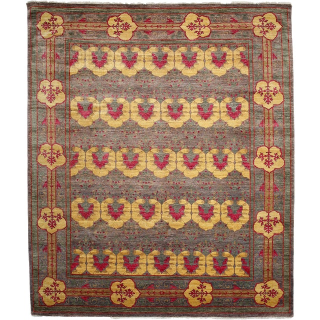 "Arts & Crafts, Hand Knotted Area Rug - 8'2"" X 9'6"" For Sale"