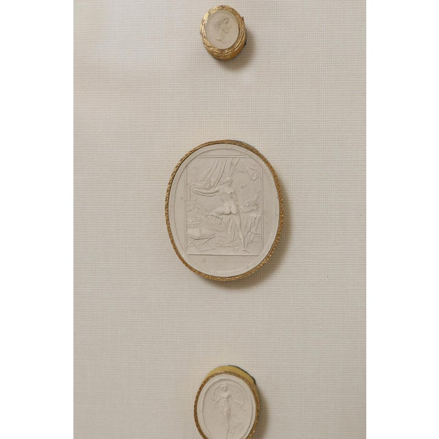 White 1820 Grand Tour Intaglios, Set of 2 For Sale - Image 8 of 10