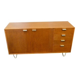 1950s Scandinavian Modern George Nelson for Herman Miller Hair-Pin Leg Credenza For Sale