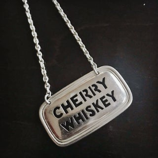 Vintage Tiffany & Co Sterling Liquor Decanter Tag - Cherry Whiskey Preview