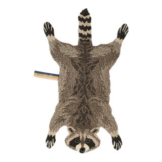 Doing Goods Rocky Racoon Rug Small For Sale