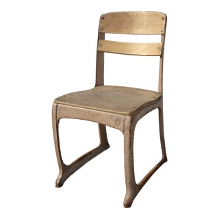 Vintage French Country Metal School House Side Chair by American Seating Co. Usa For Sale