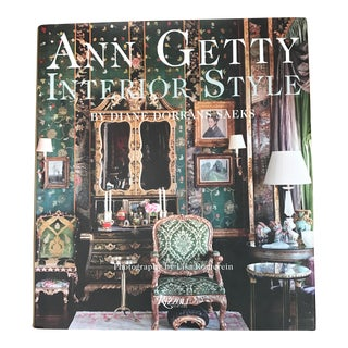 Ann Getty Interior Style Book by Diane Dorrans Saeks For Sale