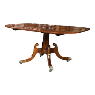 Mahogany & Brass Inlaid Breakfast Table For Sale