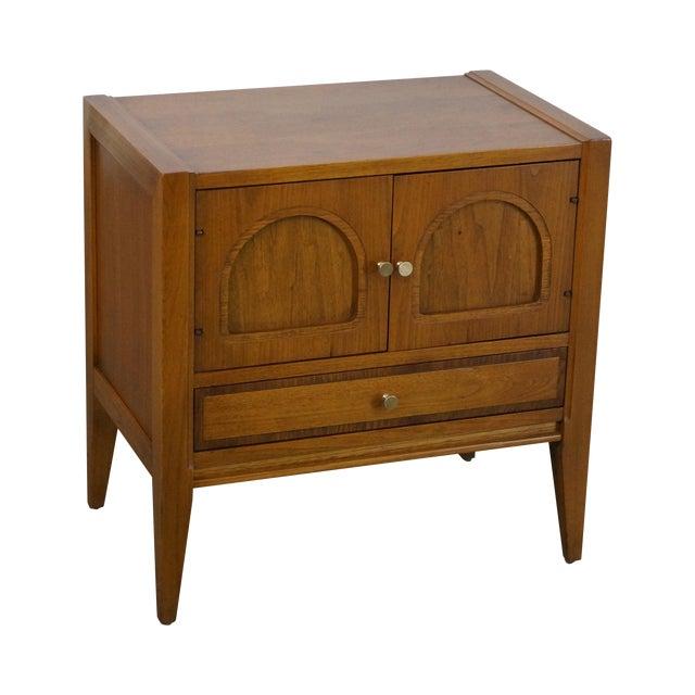 Basic Witz Mid-Century Modern Walnut Nightstand For Sale