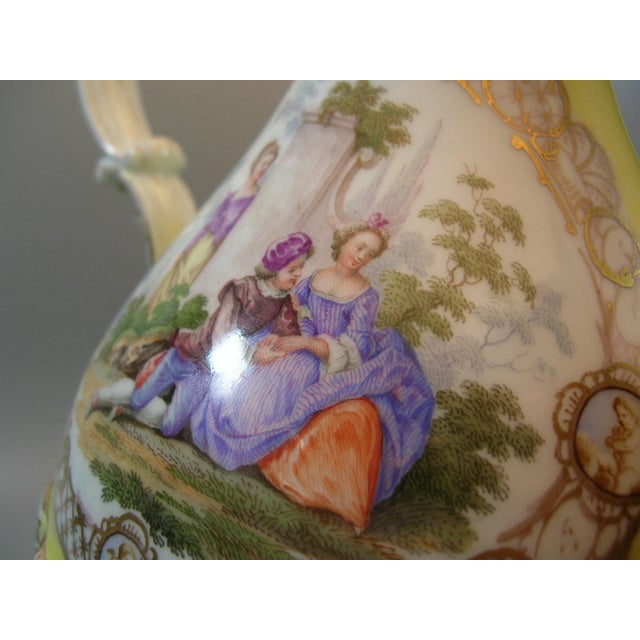 Meissen Porcelain 18th Century Meissen Porcelain Pitcher Mounted as Lamp For Sale - Image 4 of 13