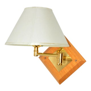 1970s Adjustable Arm Wall Lamp With Lamp Shade, France For Sale