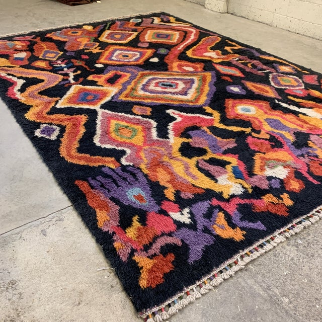 "Boho Chic Turkish Moroccan-Style Shag Rug 8'9""x13'3"" For Sale - Image 3 of 12"