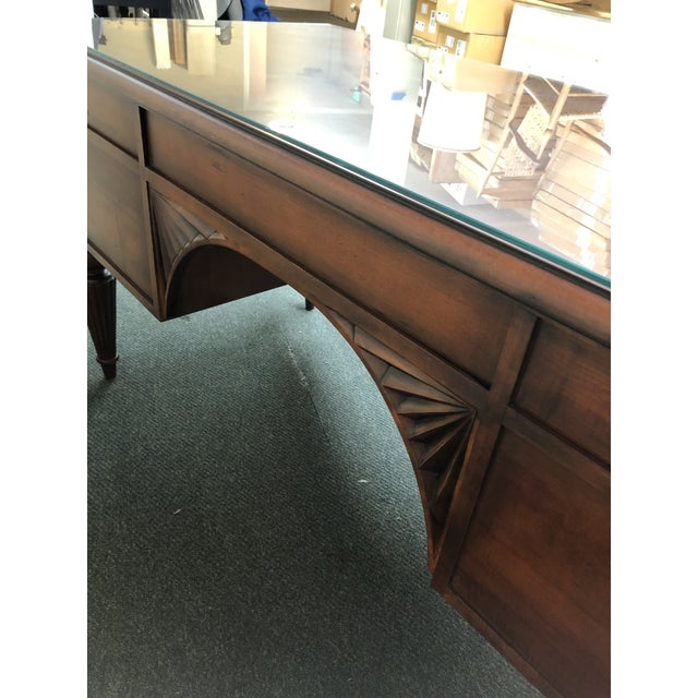 Ethan Allen Cherry Executive Desk For Sale - Image 9 of 10