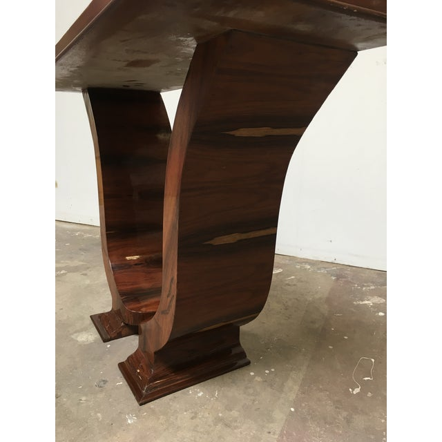 Art Deco Console in Rosewood For Sale In Los Angeles - Image 6 of 12