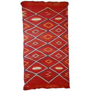 """1870s Collectible Native American Navajo Blanket/Rug - 4'7"""" X 7'7"""" For Sale"""