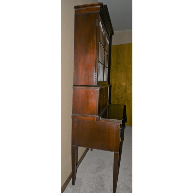Early 20th Century Antique Federal Style Mahogany Secretary For Sale - Image 5 of 12
